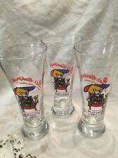 3 Vintage Bud Light Spuds MacKenzie Pilsner Beer Glass Original Party Animal