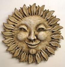 """14"""" Smiling Sun Wall Plaque Home Garden Decor Art 12006"""