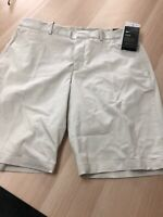Mens Nike 34 Golf Shorts Taupe Slim Fit New