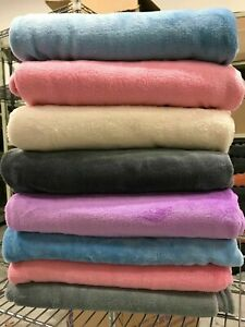 "Super Soft Warm Plush Fleece Throw Blanket 42""x58"" Assorted Colors NEW"