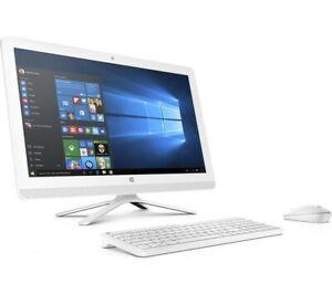 """HP 24-G080NA 23.8"""" All-In-One PC AMD A8 Quad Core 2.2GHz 8GB RAM 1TB Windows 10"""