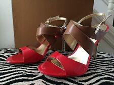 Audrey Brooke NWT Gold/Red/Tan Leather Shoes 8 M