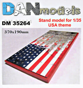 DAN Models 35264 Display Stand. USA Theme, 370x190mm Scale 1/35