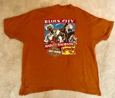 Harley-Davidson Motor Cycles Memphis Tennessee Blues City Pre-Owned 2Xl T-Shirt