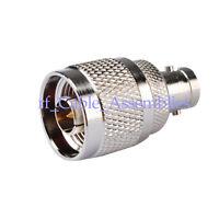 BNC Female ( Socket ) to N Type Male ( Plug ) Adaptor RF Coaxial Connector