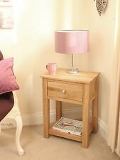 mobel solid oak lamp side end table living room furniture