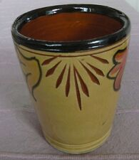 Moroccan handmade yellow pottery cup.