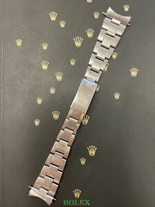 """Rolex Date Air King Mens Oyster Bracelet 7835 19mm SS Band """"257"""" Ends Ref:1501"""