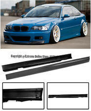 For 99-05 BMW E46 3-Series 4Dr Sedan Euro M-Tech M3 Side Skirts Rocker Panels