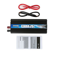 2000 Watt DC 12V to AC 220V Car Auto Power Inverter Sine Wave Charger Converter