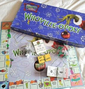 Whoville-opoly Grinch Stole Christmas Monopoly replacement pieces *YOUR CHOICE*