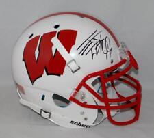 Jj Watt Signed Wisconsin Badgers Authentic Helmet -Jsa Witness + Watt Holo *Blk