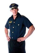 Pilot Adult Men's Costume Short Sleeved Collared Shirt Underwraps One Size