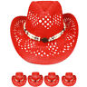 HIGH QUALITY WOMEN COWBOY HAT Western RED HAT MEN Shapeable Cap Cowgirl Rodeo