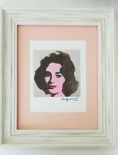 ANDY WARHOL ORIGINAL 1984 SIGNED LIZ TAYLOR MATTED TO BE FRAMED AT 11X14