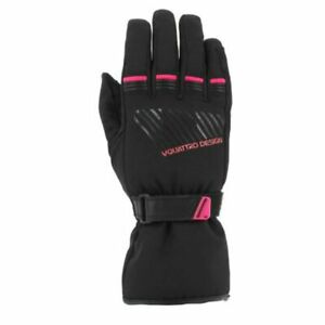 Women's Motorcycle Gloves Motorbike Gloves Vquattro Core Lady 17 Black Pink