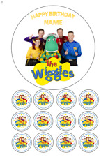 Wiggles Personalised Edible Image cake topper 15cm 12 cupcake toppers 3.5cm #43