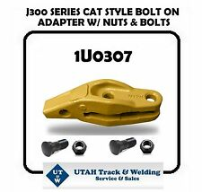 "Cat style 1U0307 bolt-on adapter for a J300 series with a 1"" lip W/ Bolts & Nuts"