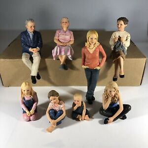 8 Piece Hand Painted American Bored Pandemic Stay at Home Family Decoration