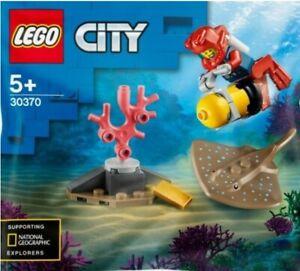 LEGO 30370 Ocean Diver polybag 22 pcs. 5+ With Stingray City Dive Sea Creature