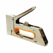 Staple Gun Tacker Steel Stapler Forcing Staples into Wood Brick Hand Tool Zen