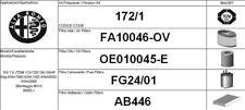 172/1 KIT 4 FILTRI TAGLIANDO ALFA ROMEO 159 1.9 JTDM KW 110 CV 150