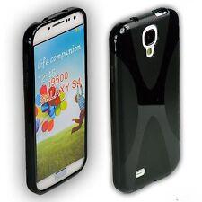 Coque arrière pour samsung Galaxy s4 sac Housse de protection case s 4 i9500 Noir + Film