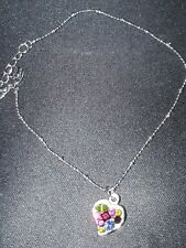 Crystal Heart Anklet Cookie Lee Colorful