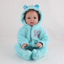 22'' Reborn Baby Dolls Vinyl Silicone Boy Doll Newborn Handmade Toy+Clothes Gift