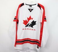 Mens Small Canada Hockey National Team Olympics Spell Out Jersey White Red