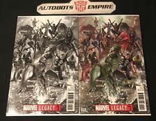 Marvel Legacy 1 Color B&W Sketch Variant Ross Comic Set Nm Hulk Spiderman Lee bw