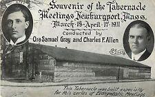 Souvenir of the Tabernacle Meetings, Gray & Allen, Newburyport Ma 1911