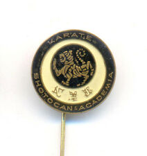 KARATE SHOTOKAN ACADEMIA - vintage pin badge rare -  BLACK TYPE