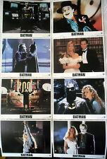 BATMAN - Keaton,Basinger,Nicholson,Burton - 8 PHOTOS US / SET 8 US LOBBY CARDS