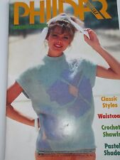 Années 1980 PHILDAR printemps fashion tricoter Livret 24 Patterns