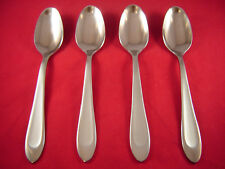 Oneida Satin Carter 4 Stainless Oval Soup Spoons NEW