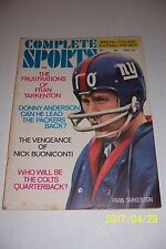 1969 Complete Sports NEW YORK Giants TARKENTON NFL AFL College Football Issue