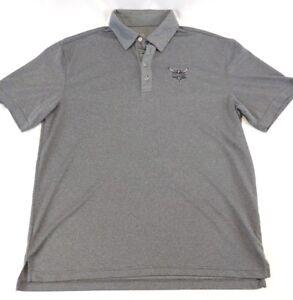 NBA Charlotte Hornet's men's large short sleeve polo shirt, gray, w/team logo