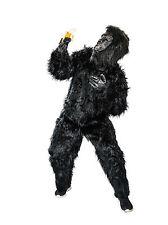 Gorilla schwarz Zoo Primat Affe Karneval Tier Komplett Kostüm Fasching Party neu