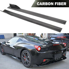 Fit For Ferrari 458 2-Door 2011-2013 Side Skirt Extension Spoiler Carbon Fiber