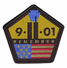 "OD Tactical Remember ""9-11-2001"" Embroidered Tribute Patch - Hook & Loop Backing"