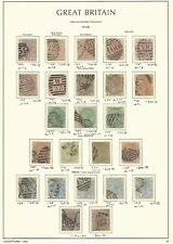 Great Britain Stamp Collection on Lighthouse Page 1873-80, #66/95 Scv $3885