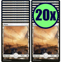 20x PLAINS 266 Full Art Basic Land NM/LP MTG Magic the Gathering Zendikar Rising