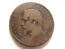 1852 - 1857 Französisch Dix Centimes Münze