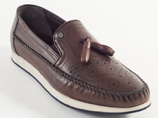 New Roberto Serpentini Brown  Leather Made in Italy shoes Size 43 US 10