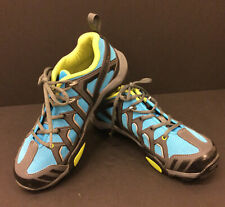 SHIMANO  SH-MT34B MTB Mountain Bike Shoes 40 6.7 Blue SPD 2-Bolt Lace CLIPS