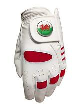 New Junior All Weather Golf Glove. Wales Ball Marker. Left Handed Golfer