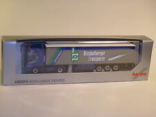 """Herpa 907682 Scania R TL Gardinenplanen-Sattelzug """" Bischofberger BIZAU ( AT ) """""""