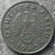 1 Reichspfennig 1940-1944 German Third Reich Buy 3 get 1 Free-Real Deal !!! WW2