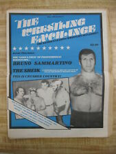 BRUNO SAMMARTINO/THE SHEIK The Wrestling Exchange Magazine May 1980 Number 2